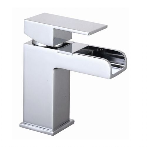 Abacus Font Mono Basin Mixer Tap - Chrome